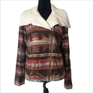 LRL Ralph Lauren Southwestern Aztec Sherpa Jacket